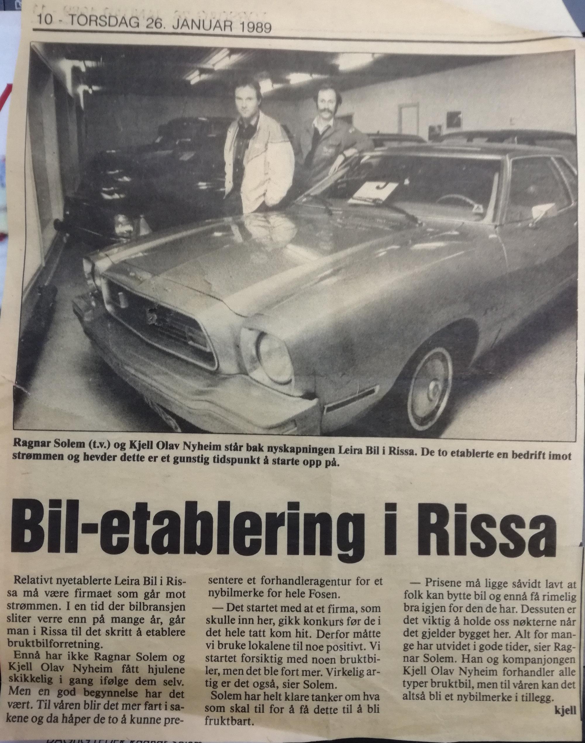 Leira Bil etablerer seg i Rissa